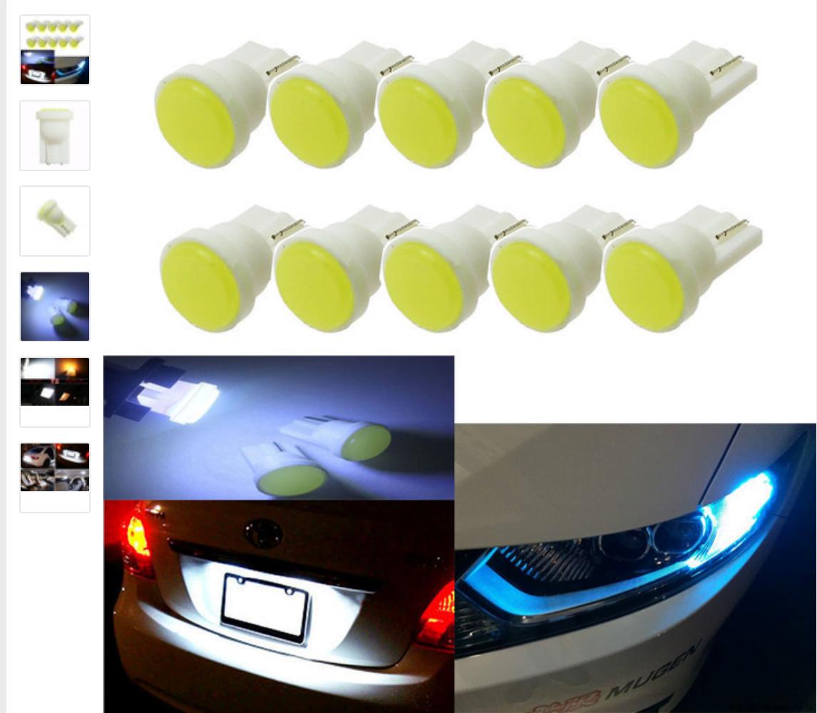 Комплект светодиодов для автомобиля (фары передние и задние).