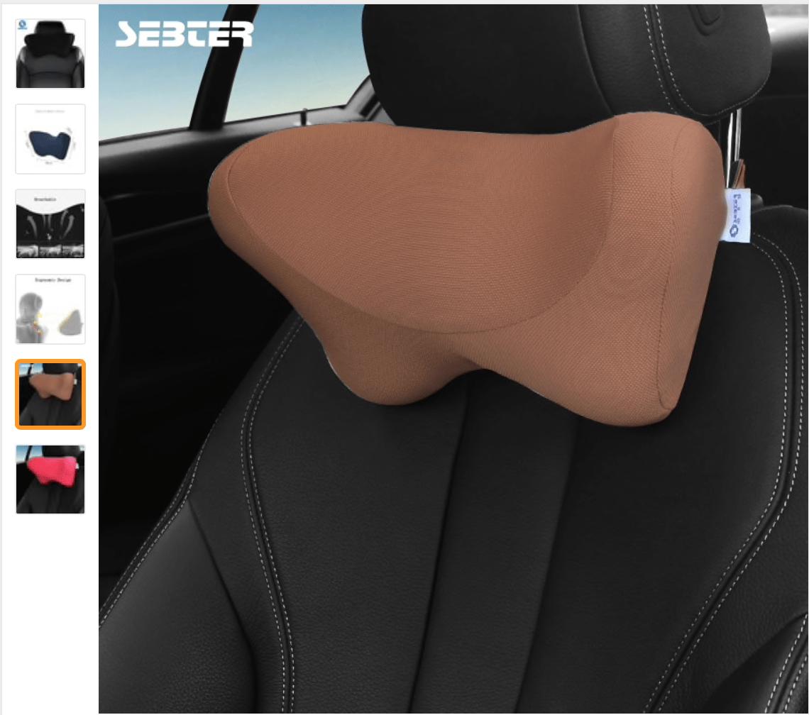 Подушка подголовник для автомобильного кресла с Китая